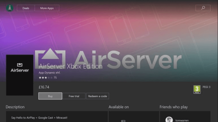 Install Beetv Xbox via AirServer